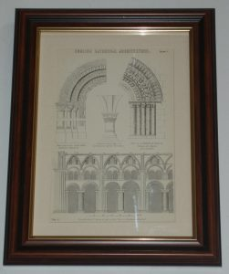 Durham Cathedral Architecture page dated 1880 available unframed